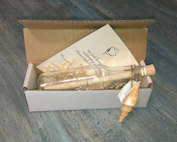 message in a bottle wedding invitations - Google Search