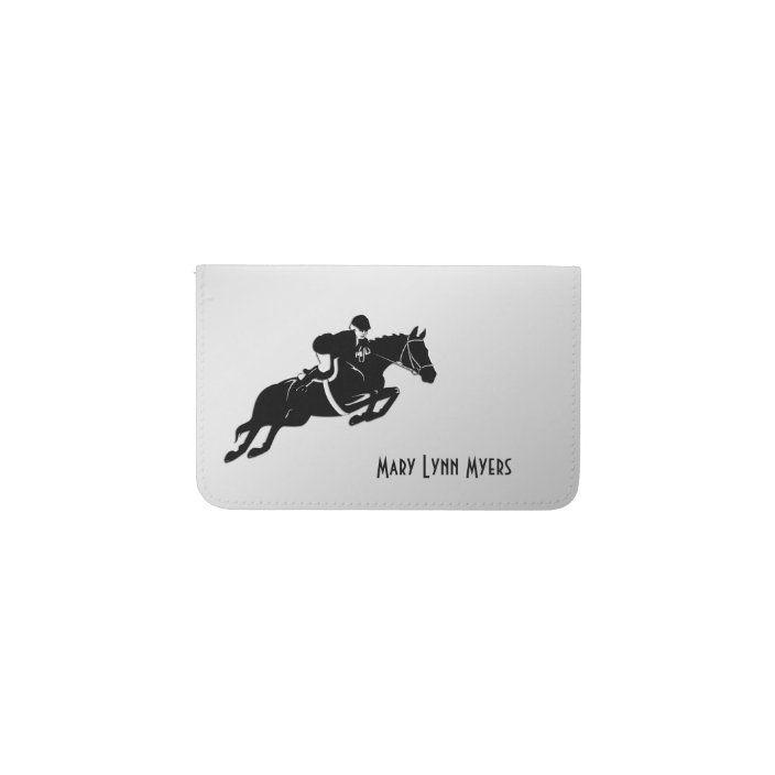 Equestrian Jumper Card Holder Zazzle Com Business Card Holders Custom Holiday Card Business Card Design