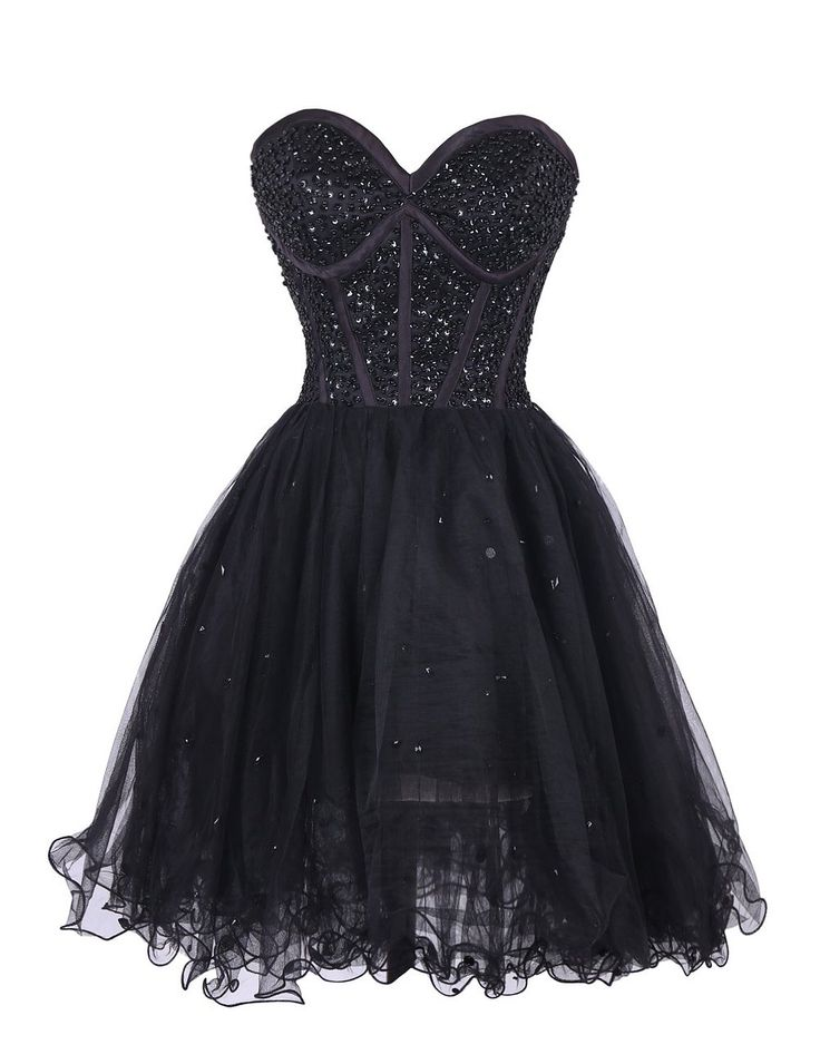 Black lace corset strapless short party dress with multi tiered skirt