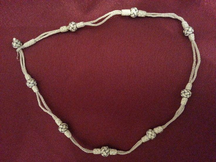 Handmade silver necklace (Kazaziye)