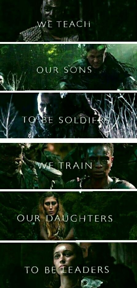 This is why I love this show. These women are independent, courageous, strong, fierce, and confident leaders and warriors.