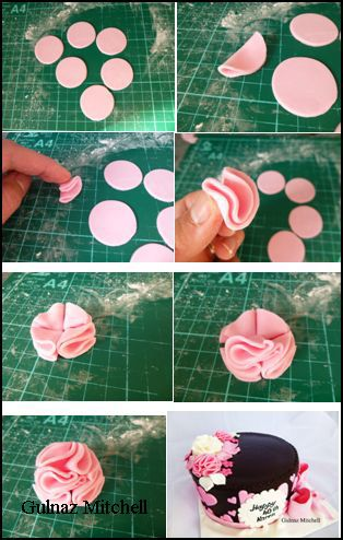 How to make fondant Pompon flower. It is very easy!