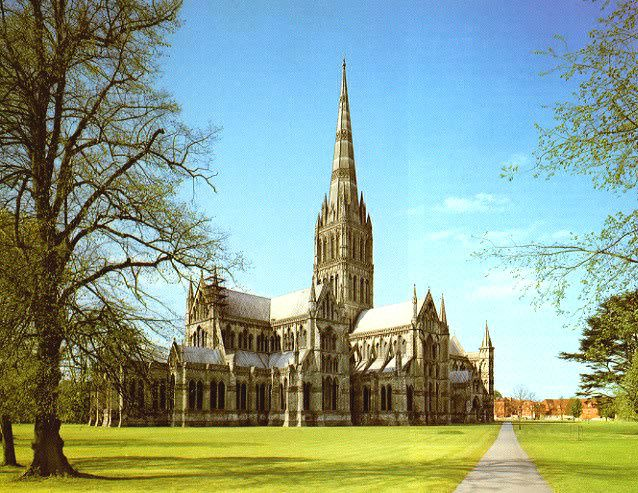 I sang in this cathedral!! Awesome acoustics! Salisbury Cathedral, Salisbury, England