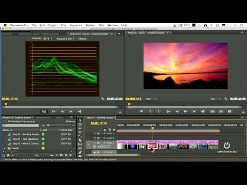 Visit http://www.thevideographyblog.com/ .....COLOR CORRECTION - Read Scopes in Adobe Premiere Pro CS6