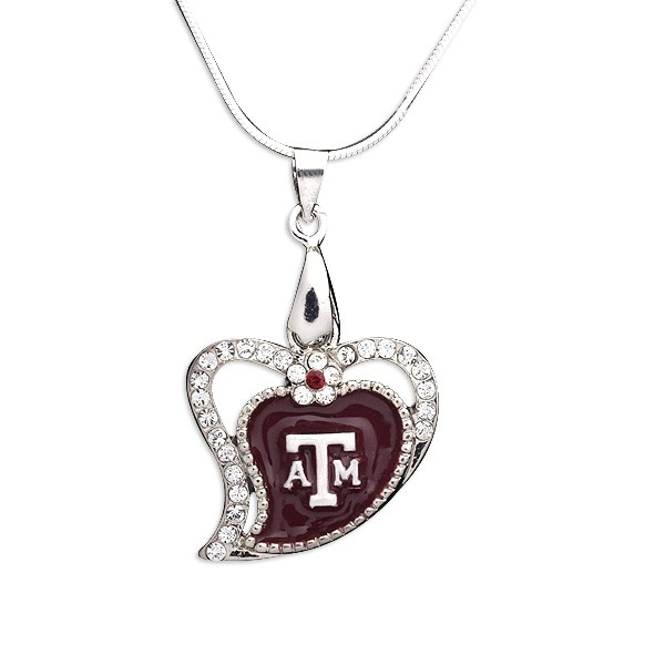 102 best aggie jewelry images on pinterest colleges midland texas texas a aggies heart pendant necklace mozeypictures Image collections