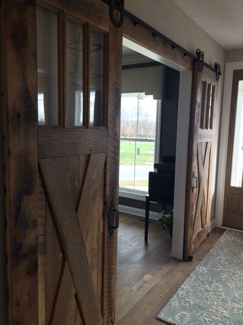 Indoor BARN doors for the study.