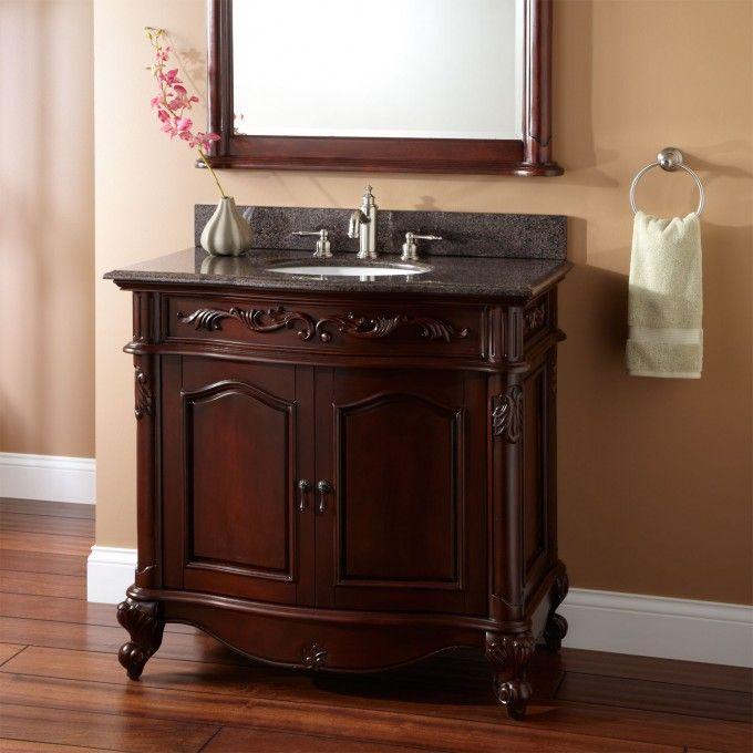 "36"" Provence Vanity with Undermount Basin - Bathroom Vanities - Bathroom"