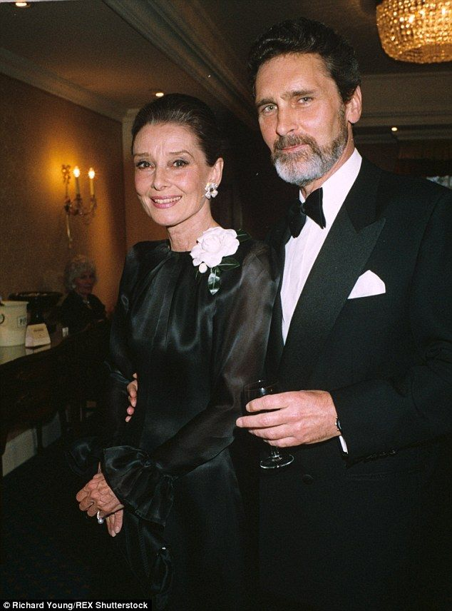 Audrey Hepburn and the man she described as the love of her life, actor Robert Wolders. Th...