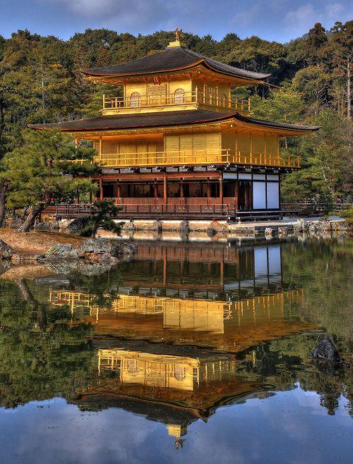 supersecretninjamoves:  theworldwelivein:  Kinkakuji or Golden Pavillion In Kyoto, JapanByfrenchbear