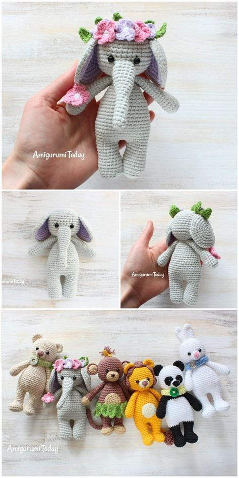 Here we have shared a grand list of free crochet amigurumi patterns that all makes perfect cuddly toys and can also be used as best lovey to your babies!Crochet Cuddle me Elephant
