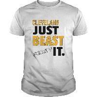 Cleveland Baseball Basketball Just Beast It Gold Champs Sports Fan Shirt