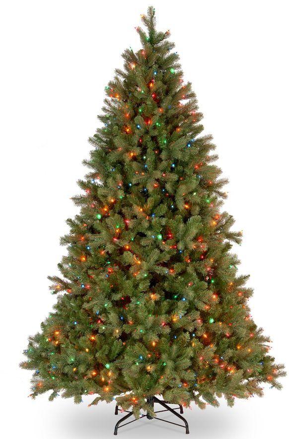 14 Ft Christmas Tree Part - 42: National Tree Company 7.5-ft. Douglas Fir Multicolor Pre-Lit Artificial Christmas  Tree
