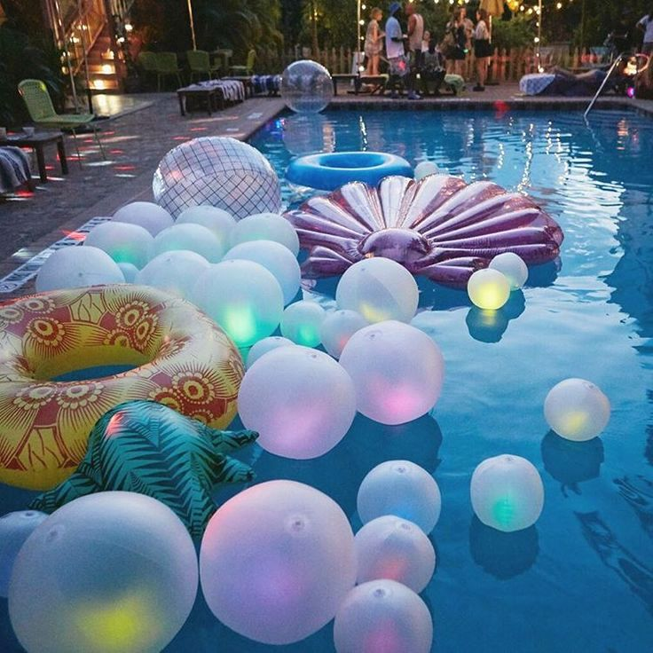 Most Of Us Have To Take A Trip For That High End However A Fortunate Couple Of Have A Backyard Pool Birthday Party Mermaid Pool Parties Pool Party Decorations