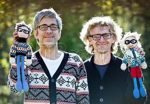 Arne & Carlos, the fathers of the Strikkedukkers ... knitted doppelgangers!