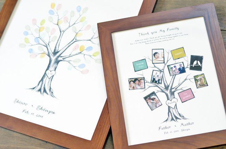 ファミリーツリー・結婚式のご両親へのプレゼント/ファミリーツリー:ボネ(Sサイズ)