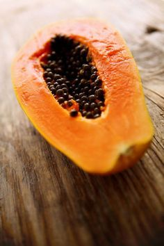 You've probably used papaya in a facial scrub, but are you eating it, too? The fruit is a vitamin C serum and exfoliant all-in-one. It contains two days' worth of vitamin C, which helps to brighten and tighten skin. It's packed with vitamin A compounds, which regulate cell turnover in much the same way that a topical retinol-A does, albeit gentler. Papaya also contains the digestive enzyme, papain, which helps decrease redness in the skin by combating inflammation.The Easy Recipes: A golden…