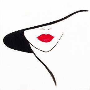 Rubí grabado de la ilustración de moda Original
