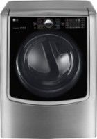 LG - 9.0 Cu. Ft. 14-Cycle Electric Dryer with Steam and Wi-Fi Connectivity - Graphite Steel - Front Zoom