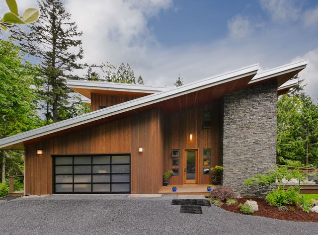 This prairie style modern facade is simply stunning