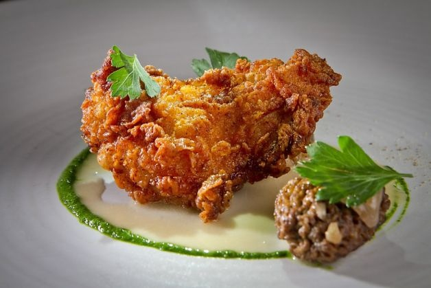 The chicken-fried quail is one of chef Joseph Humphrey's riffs on Southern and California cuisine at his Dixie restaurant. Photo: John Storey, Special To The Chronicle / SFJohn Storey, Joseph Humphrey, Dixie Restaurants, Chefs Joseph, California Cuisine, Humphrey Riff, Chicken Fries Quails