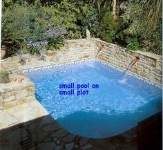 Small Lot Pool Designs | Pool ( small pool on a small lot..lap pool can be considered ...
