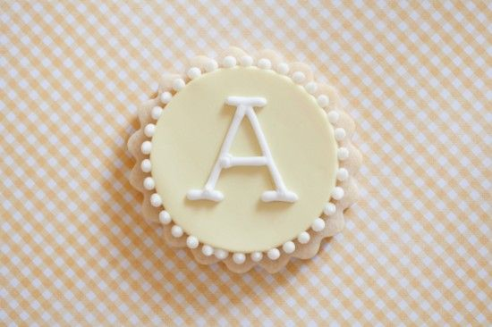 Elegant monogrammed cookies- perfect for showers or wedding favors