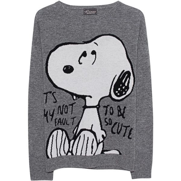 Princess Goes Hollywood Snoopy Shark Skin Grey Wool Cashmere Knit 355 Liked On Polyvore Featuring Tops Sweaters Woo Roupas Infantil Roupas Compras