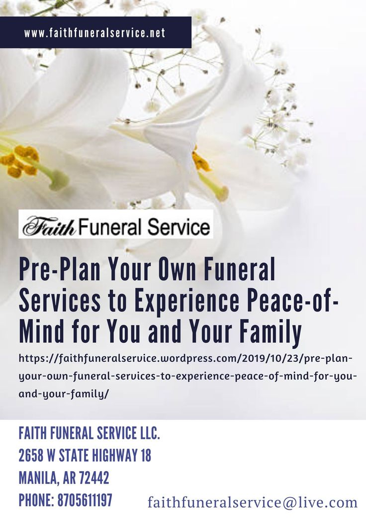 Preneed funeral plans can be made at any time and offer