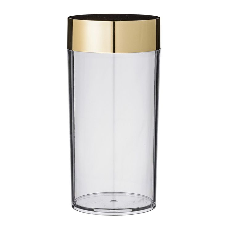 Discover the Bloomingville Canister with Gold Lid - 10x20.5cm at Amara
