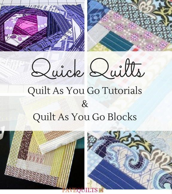 Quick Quilts: 15 Quilt As You Go Tutorials and Quilt As You Go Blocks | FaveQuilts.com