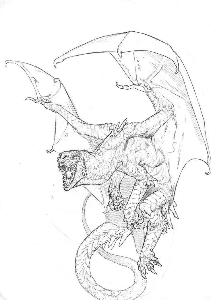 Dragon, Tommaso Lucchetti on ArtStation at https://www.artstation.com/artwork/qBe5y