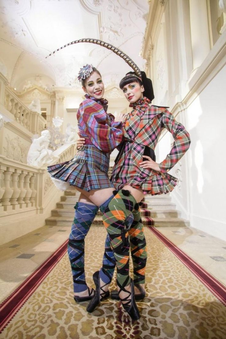 Now THOSE are some legwarmers! Ballerinas gone punk, thanks to fashion designer Vivienne Westwood.
