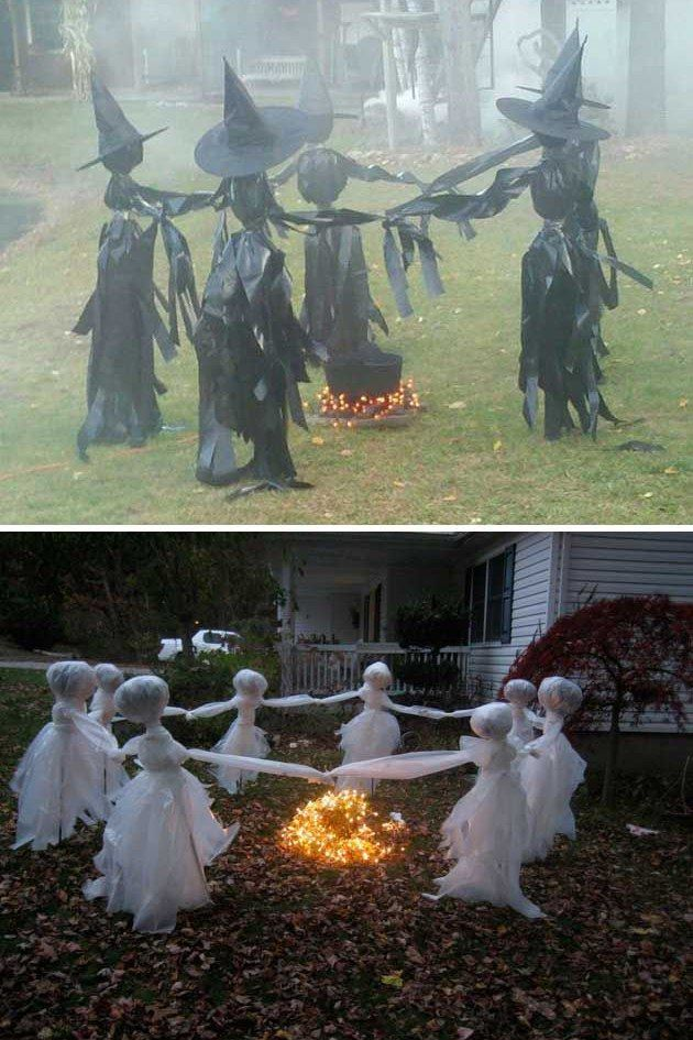 Black Garbage Bag Halloween Decorations.Pin On Holidays Halloween