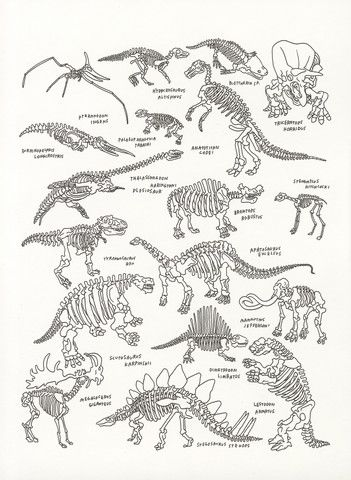 outlet designer watches Dinosaurs at The American Museum of Natural History  by Jason Polan   20x200  from  60