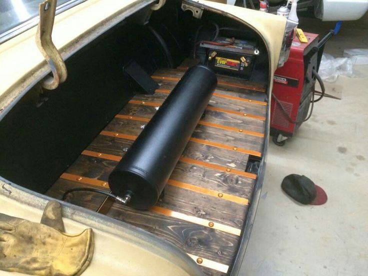 Cool Wood Floor In The Trunk Of A Car Vehicles Custom