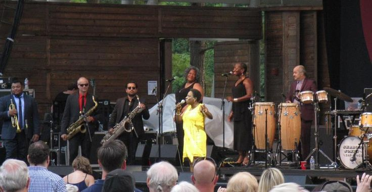 Sharon Jones and the Dap-Kings - Wheels of Soul Tour 2015. Aretha may be the queen of soul but his woman is right behind her! Such talent and energy...