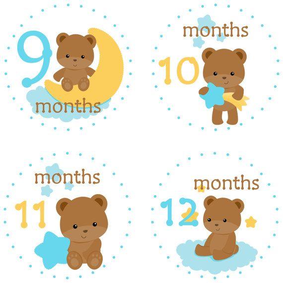 Bebé mes pegatinas bebé mensual pegatinas por LittleLillyBugDesign