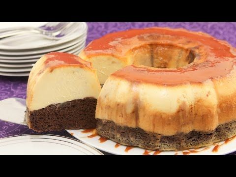 Chocolate Flan Cake, recipe and video tutorial - Looks easy and really yummy!