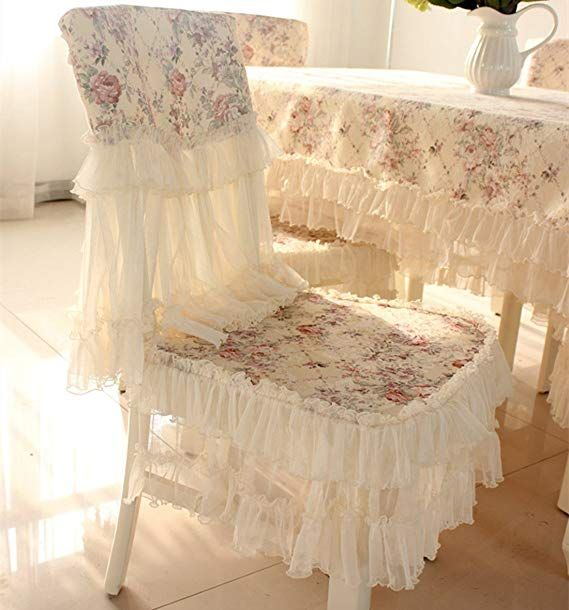 Amazon Com Jh Tablecloths Country Style Lace Coffee Grace Floral Design Chair Back Co Shabby Chic Bedrooms On A Budget Slipcovers For Chairs Chair Back Covers