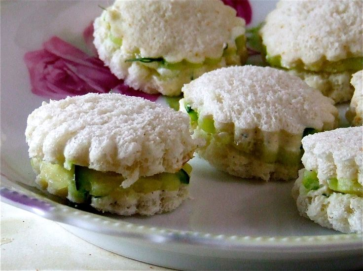 Cucumber Tea Sandwiches- I used to have these ALL the time as a kid!