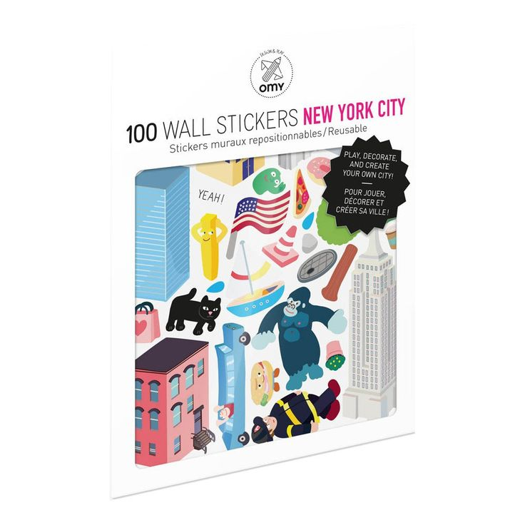 New York City Wall Stickers - Set of 100 Omy Children- A large selection of Design on Smallable, the Family Concept Store - More than 600 brands.