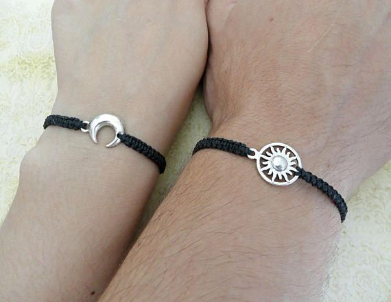 Couples Bracelet Moon and Sun Bracelet Love Bracelet Set of