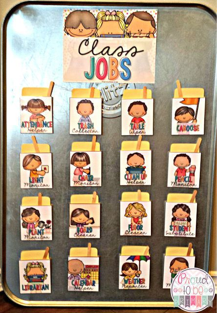 kindergarten clipart classroom jobs - photo #40
