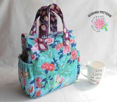 Insulated Lunch Bag Pattern, Lunch Bag Tutorial, Tote Bag PDF Sewing Pattern