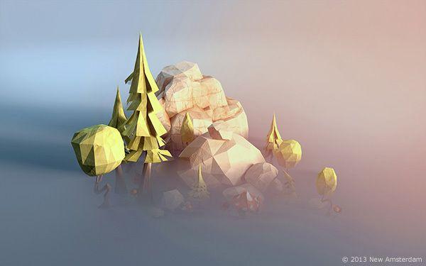 Power Giants - lowpoly paperworld on Behance