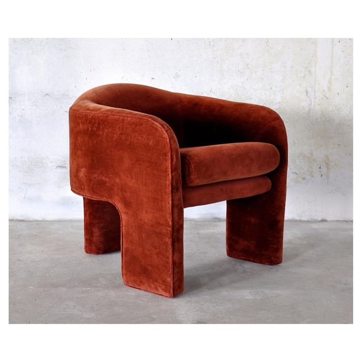 Random moment of appreciation for this rusty velvet Milo Baughman chair
