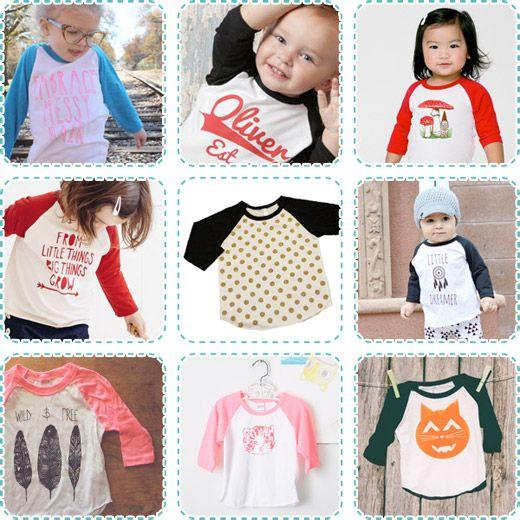 Rad Raglan T-shirts for Kids, Toddlers, Babies