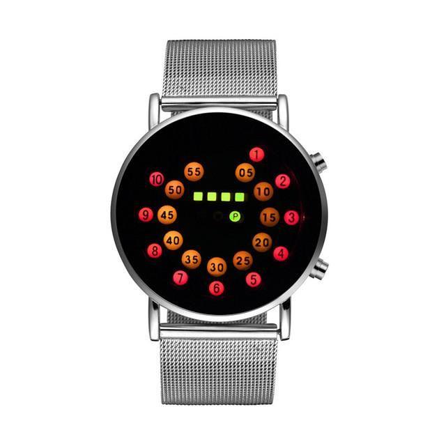 Best Selling Fashion Binary Watch LED Digital Watch Men Watch Full Steel Sport Watches Clock saat relogio masculino reloj hombre