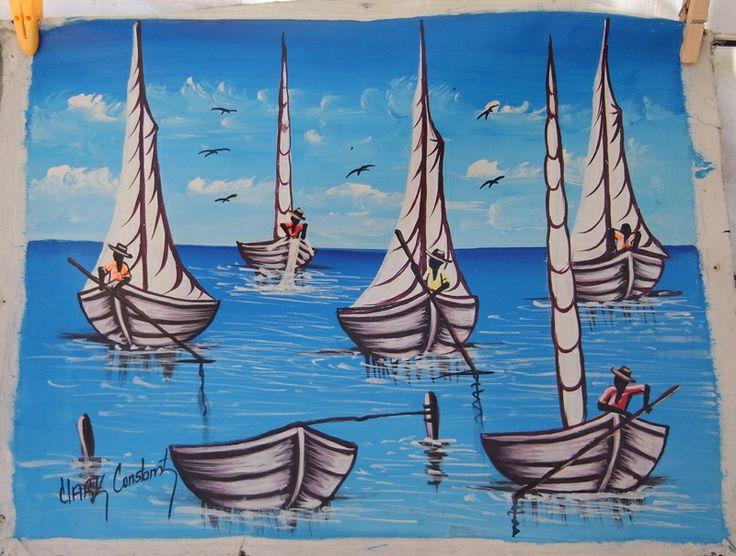 Haitian Oil Paintings By Artist Garry