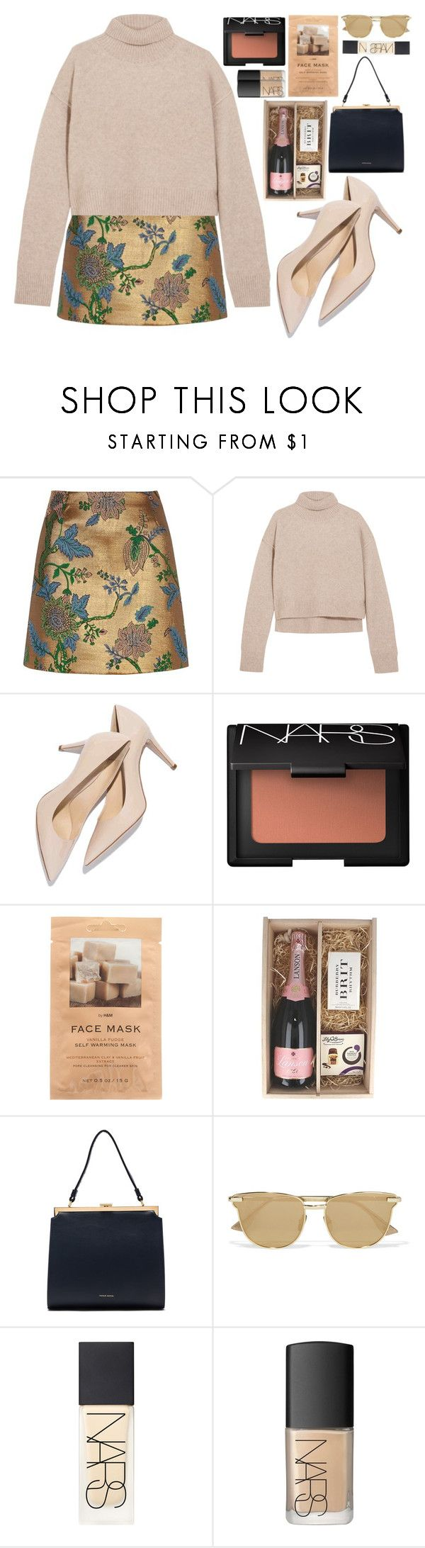 """""""SEPT 22"""" by mariimontero ❤ liked on Polyvore featuring River Island, Rejina Pyo, M. Gemi, NARS Cosmetics, H&M, Mansur Gavriel and Le Specs"""